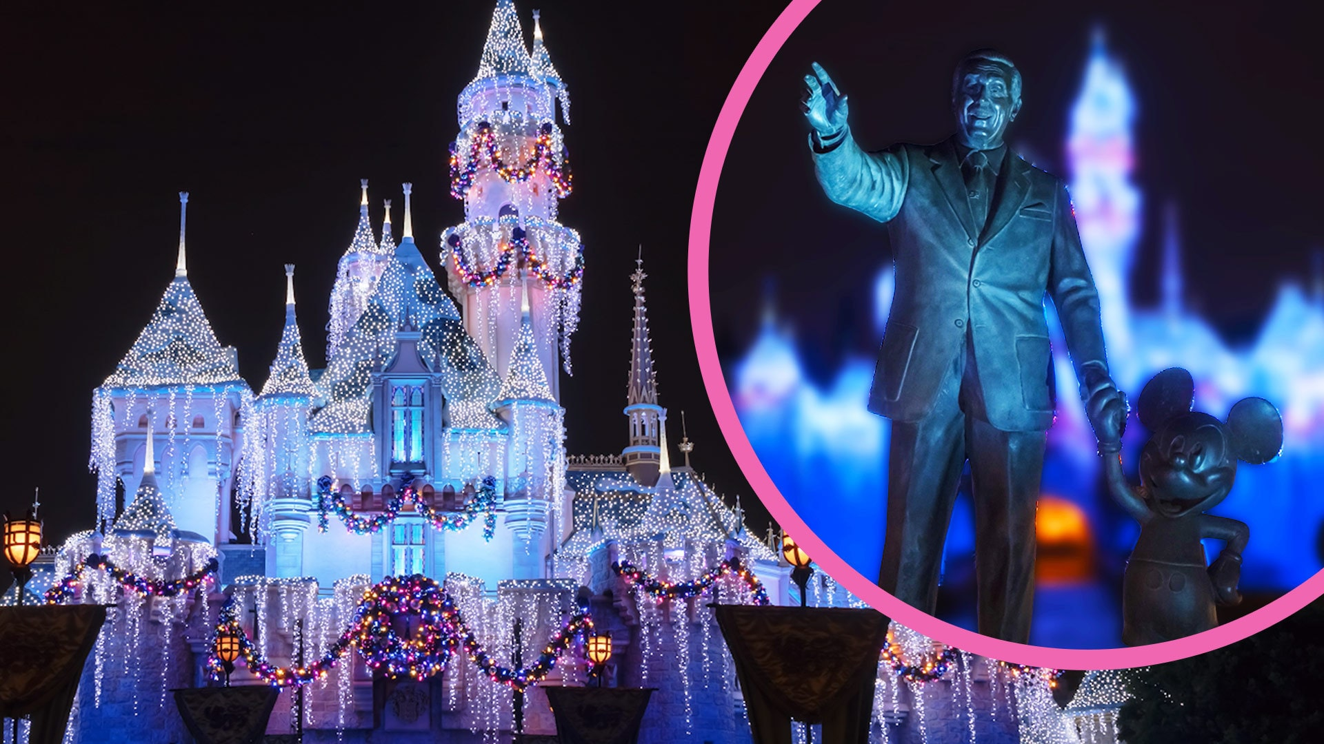 Sleeping Beauty Castle Holiday Transformation at Disneyland | Oh My Disney