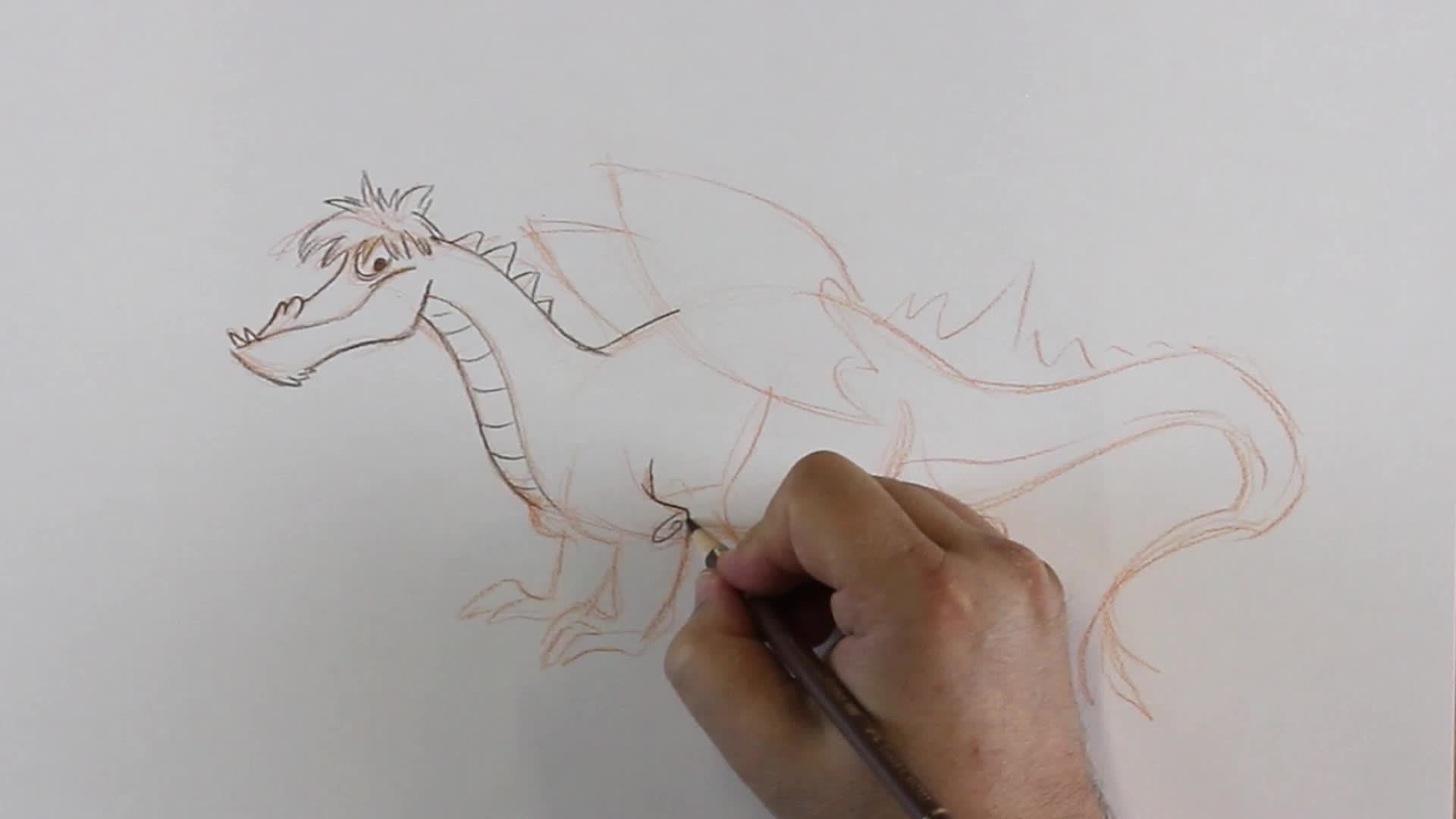 Comment dessiner un gentil dragon