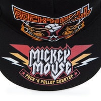 Mickey Mouse Rock 'n Roller Coaster Baseball Cap for Adults - Black