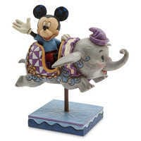 Image of Mickey Mouse and Dumbo Flying Elephants Figure by Jim Shore # 1
