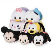 Image of Mickey Mouse and Friends Polka Dot Mini ''Tsum Tsum'' Plush Collection # 1
