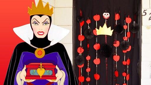 Evil Queen Halloween Door Decor   Disney Family