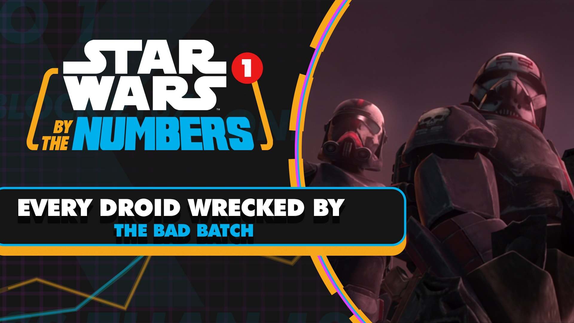 Every Droid Wrecked by the Bad Batch | Star Wars By the Numbers