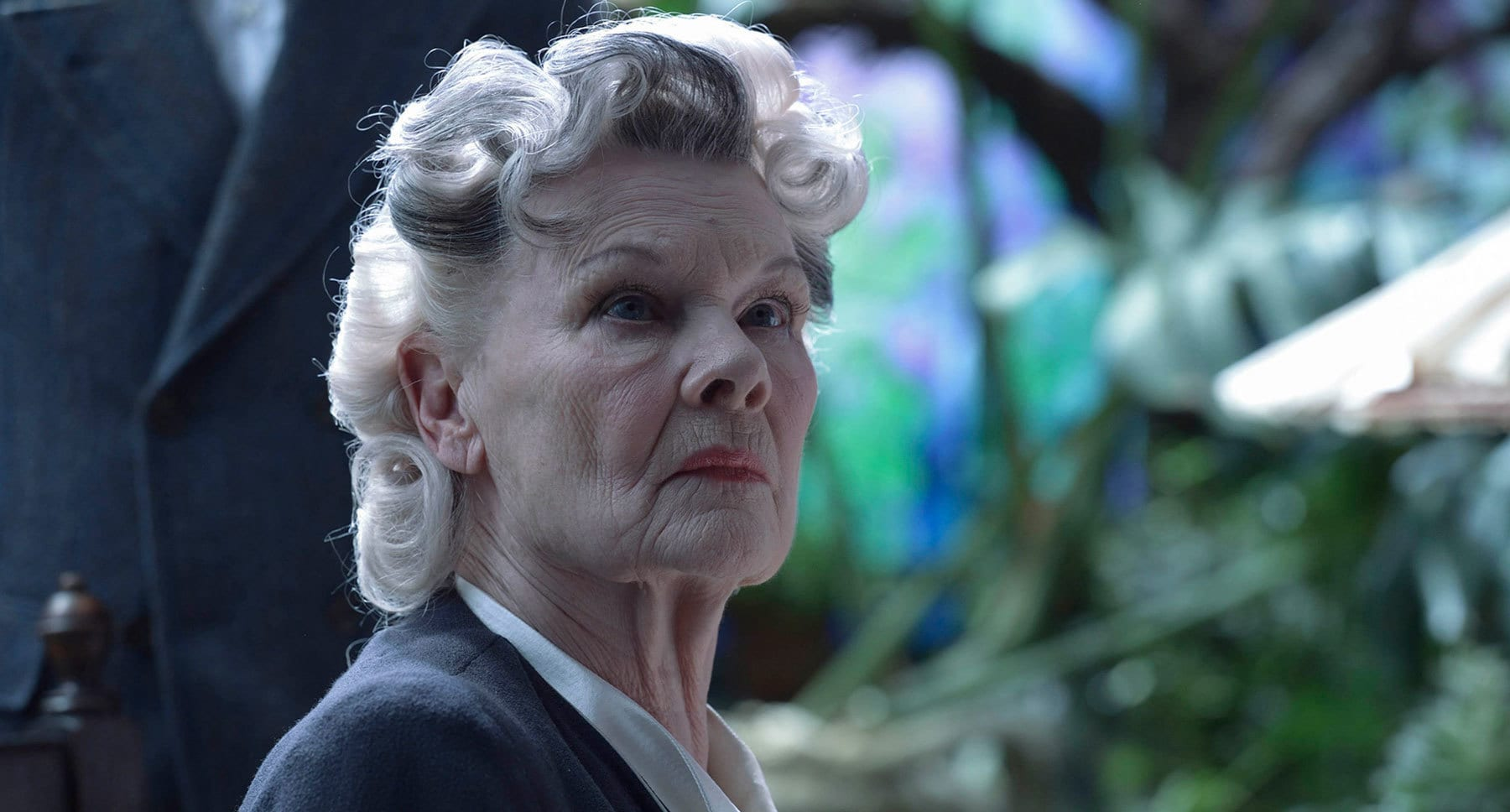 "Judi Dench as Miss Avocet in the movie ""Miss Peregrine's Home for Peculiar Children"""