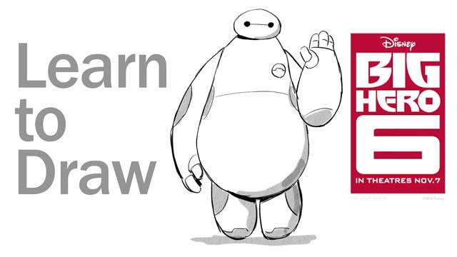 Learn to Draw Baymax from Big Hero 6 - Disney Insider