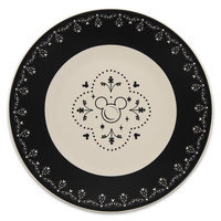 Mickey Mouse Icon Dessert Plate Set - Disney Dining Collection - Black / White