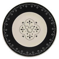 Image of Mickey Mouse Icon Dessert Plate - Disney Dining Collection - Black / White # 1