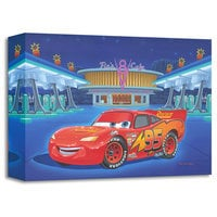 Lightning McQueen ''Pit Stop at Flo's'' Giclée by Manny Hernandez