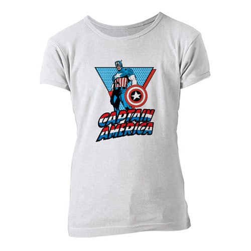 Captain America Retro Tee for Girls - Customizable