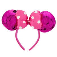 Image of Minnie Mouse Ears Headband for Girls - Pink Sequin # 1