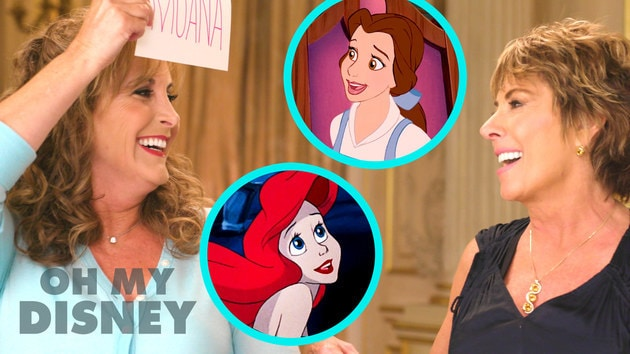 Jodi Benson and Paige O'Hara Try to Guess Disney Princesses in 10 Seconds | Oh My Disney