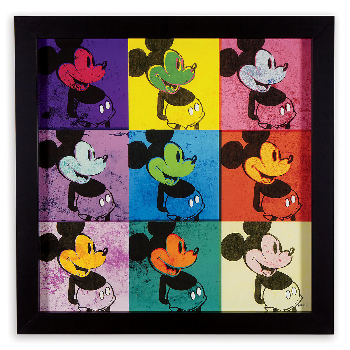 mickey mouse pop art mickey framed silkscreen on archival paper