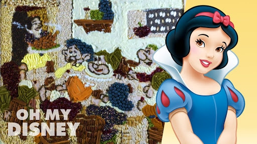 Oh My Disney Sketchbook: Thanksgiving Leftover Food Art Featuring Snow White and the Seven Dwarfs