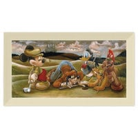 Image of Mickey Mouse and Friends ''On the 18th Green'' Giclée by Darren Wilson # 9
