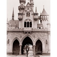 Image of Walt Disney at Sleeping Beauty Castle Giclé # 11
