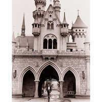 Image of Walt Disney at Sleeping Beauty Castle Giclé # 11