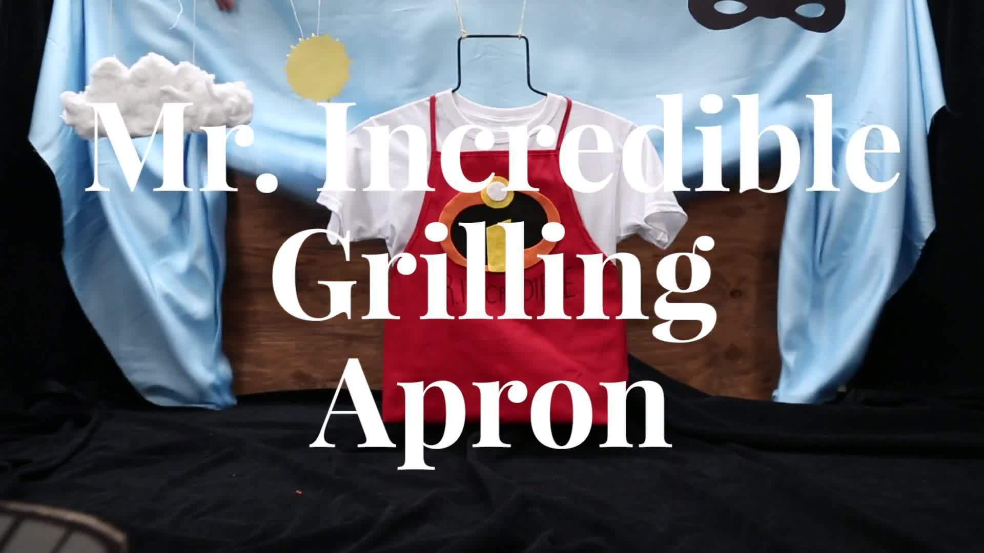 Mr. Incredible Grilling Apron | Disney DIY