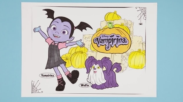 Vampirina and Wolfie | Disney Junior Colouring Club