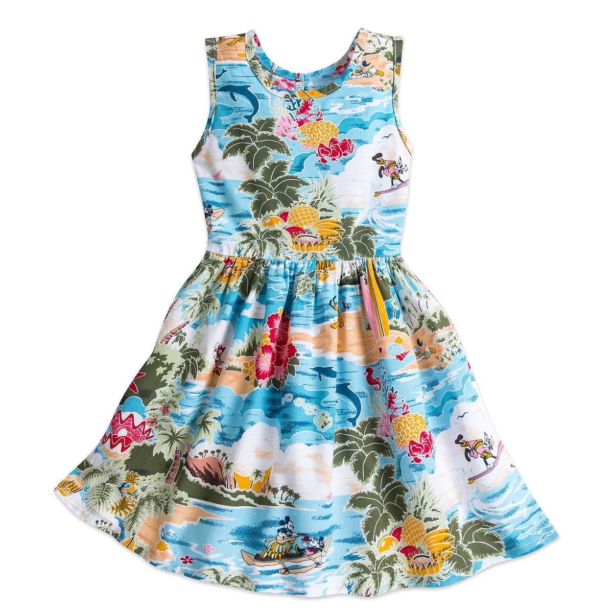 Mickey Mouse and Friends Hawaiian Dress for Girls | shopDisney
