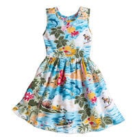 Image of Mickey Mouse and Friends Hawaiian Dress for Girls # 1