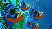 Attack of the Pirate Piranhas/March of the Lava Monsters