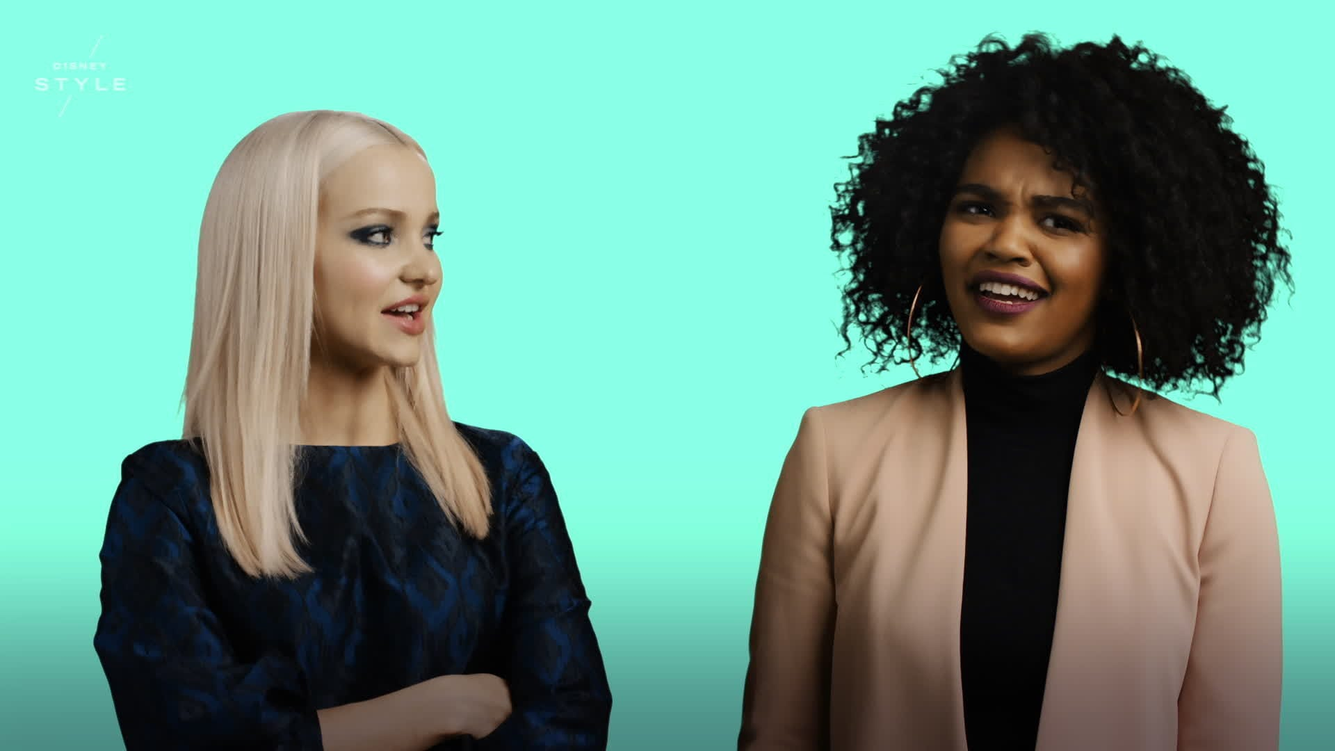 Dove Cameron and China Anne McClain on Project Runway | Disney Style