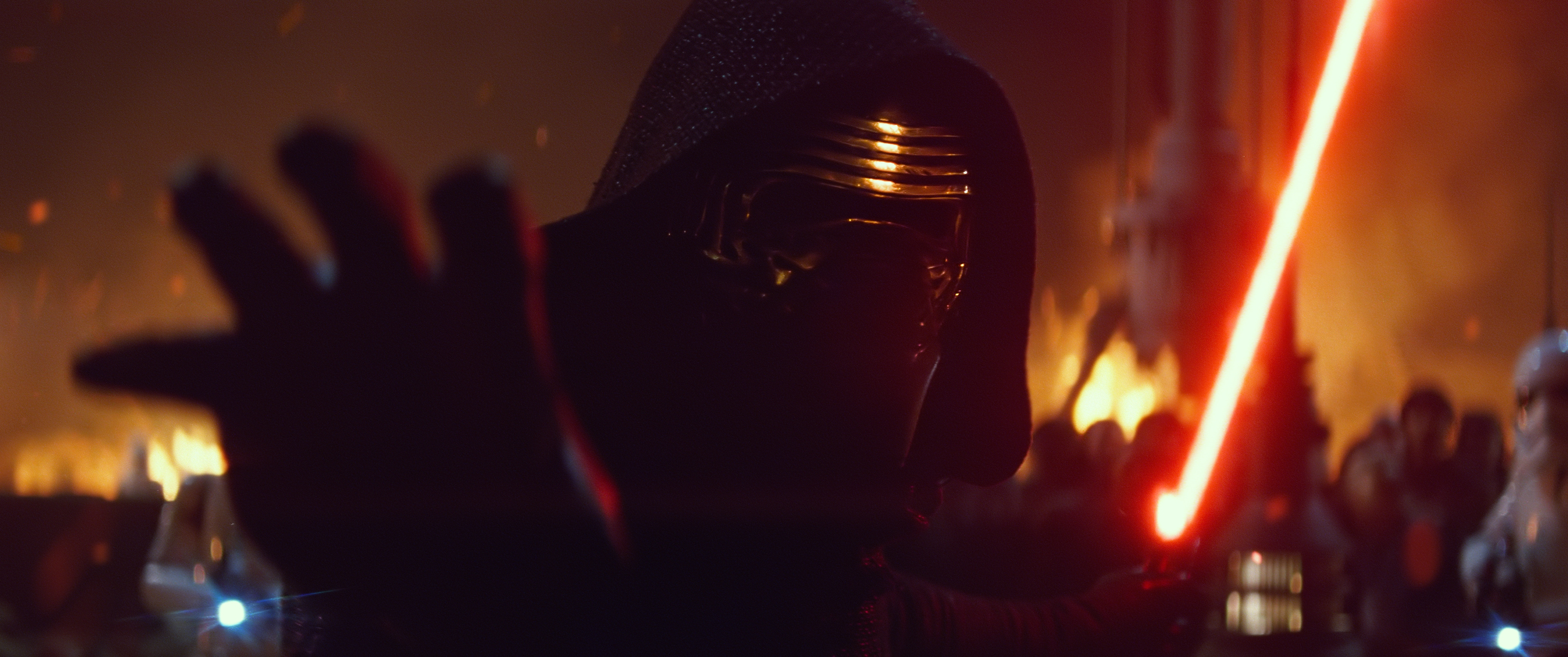 Adam Driver as Kylo Ren using the force