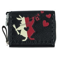 White Rabbit Painting the Roses Red Mallory Card Case by Vera Bradley