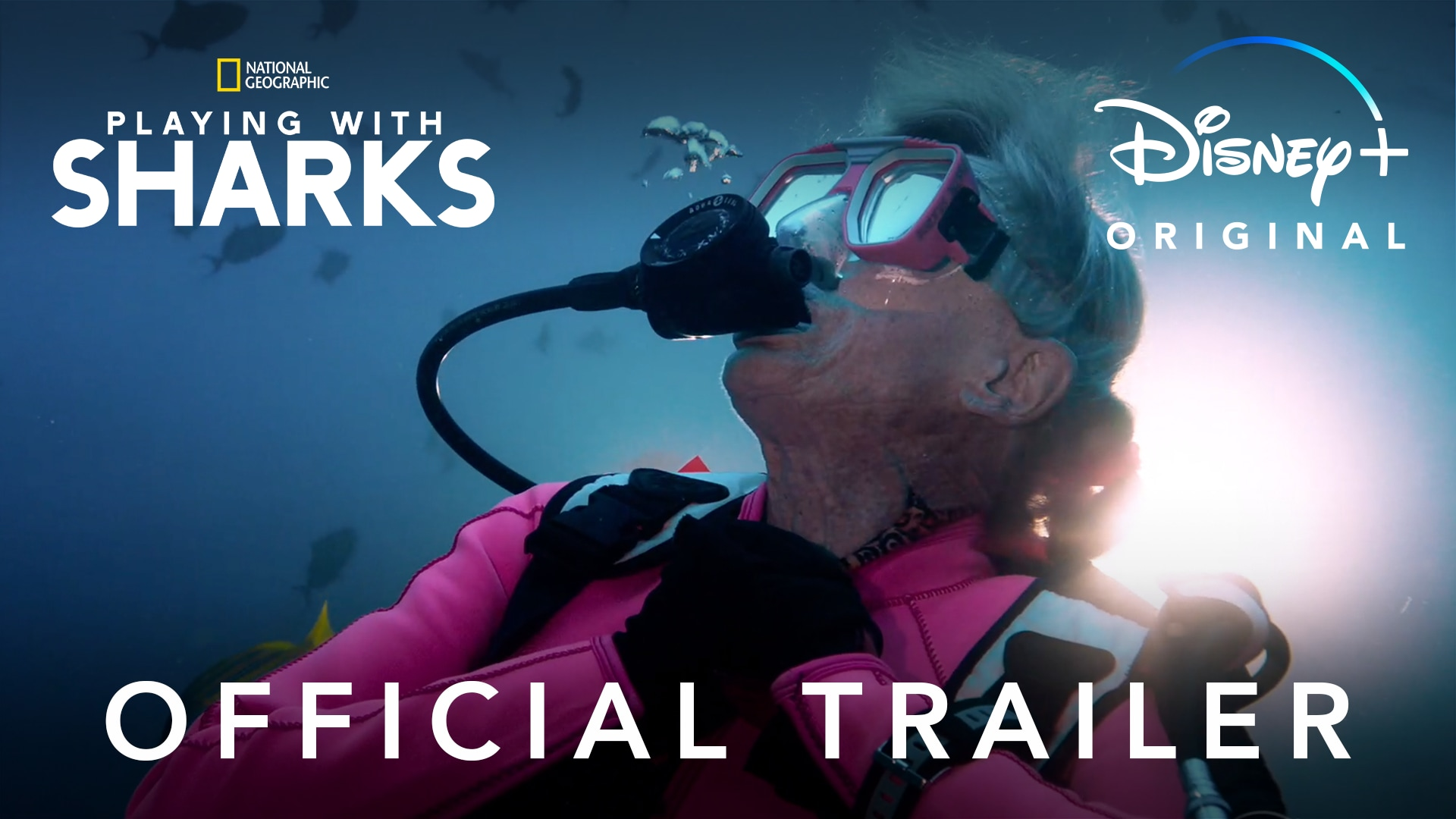 Playing with Sharks | Official Trailer | Disney+