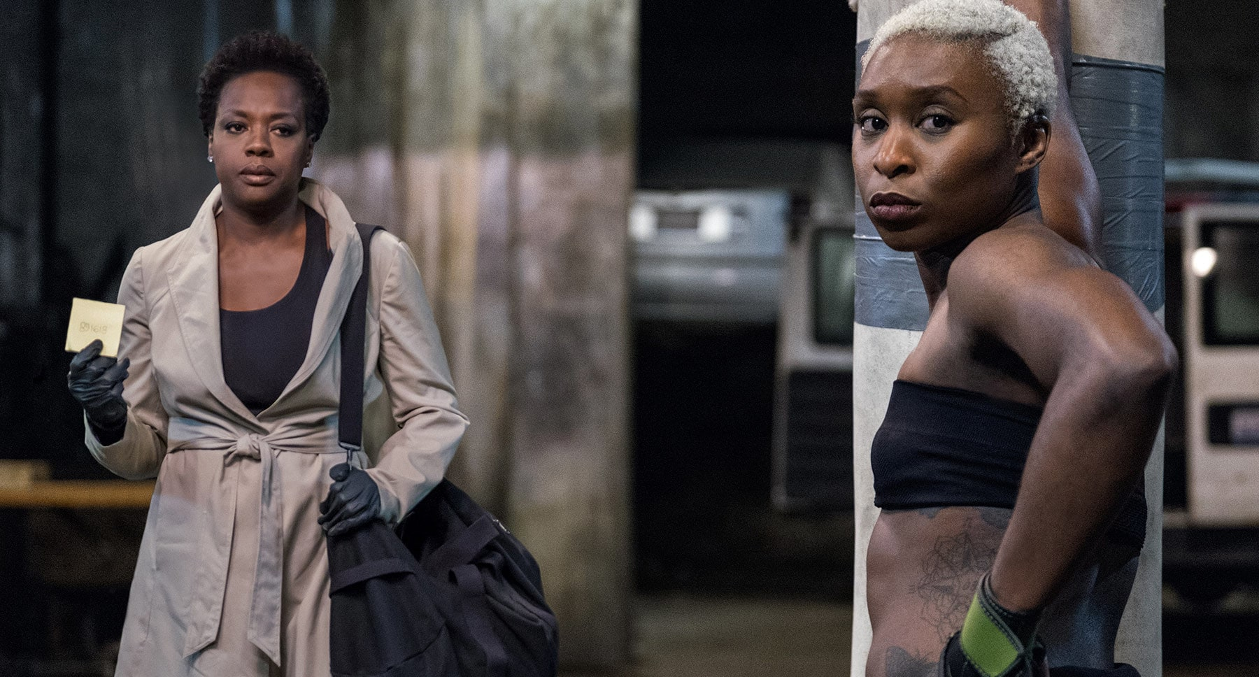 "Viola Davis and Cynthia Erivo in ""Widows"""