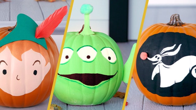 Disney-Themed Painted Pumpkins | Disney DIY by Disney Family
