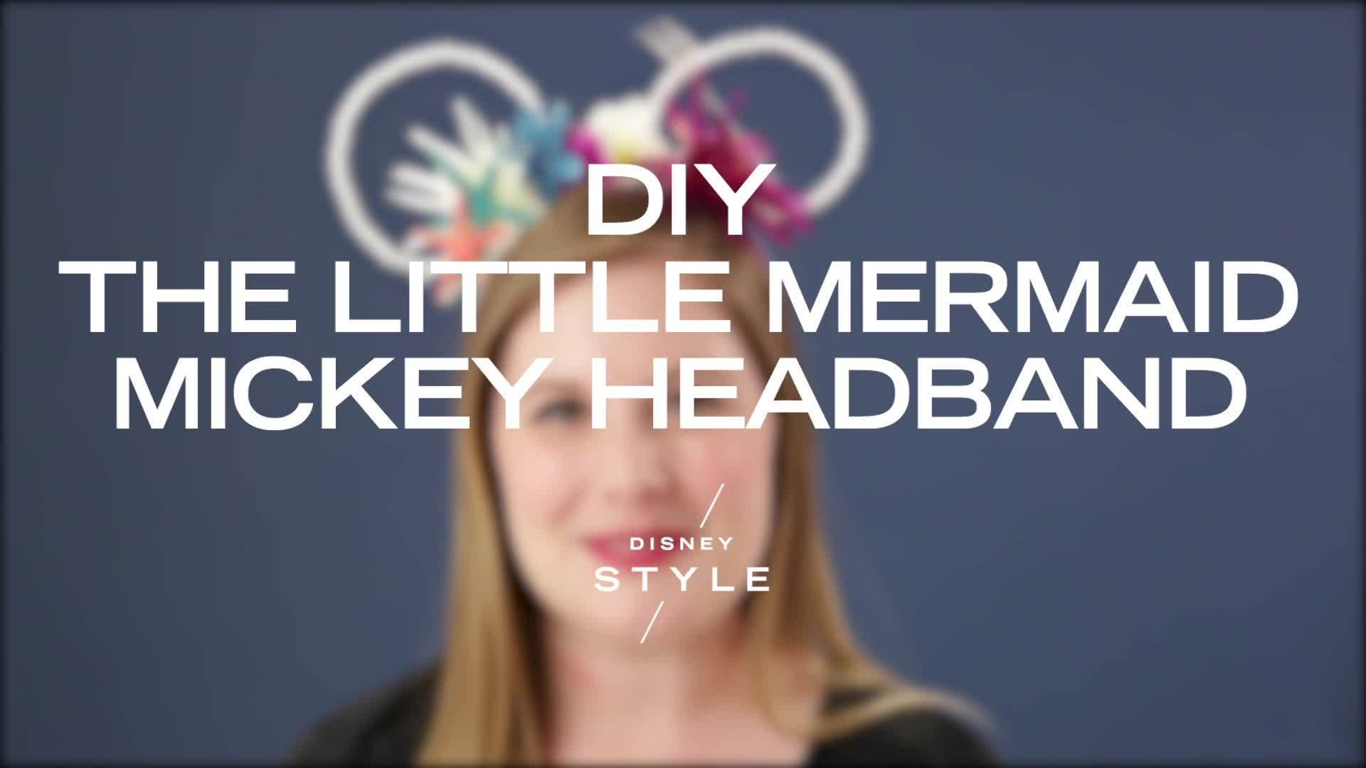 DIY The Little Mermaid Mickey Headband