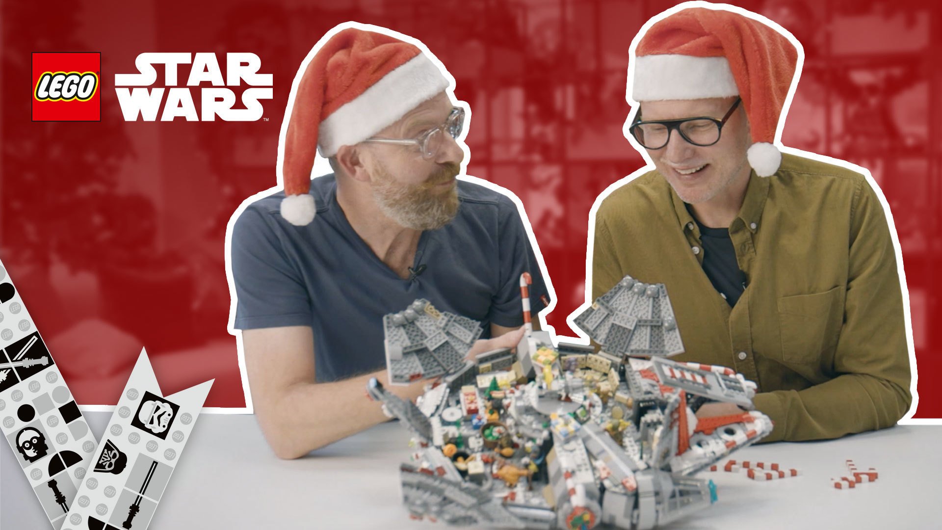 How To Decorate Millennium Falcon For the Holidays | LEGO® Star Wars