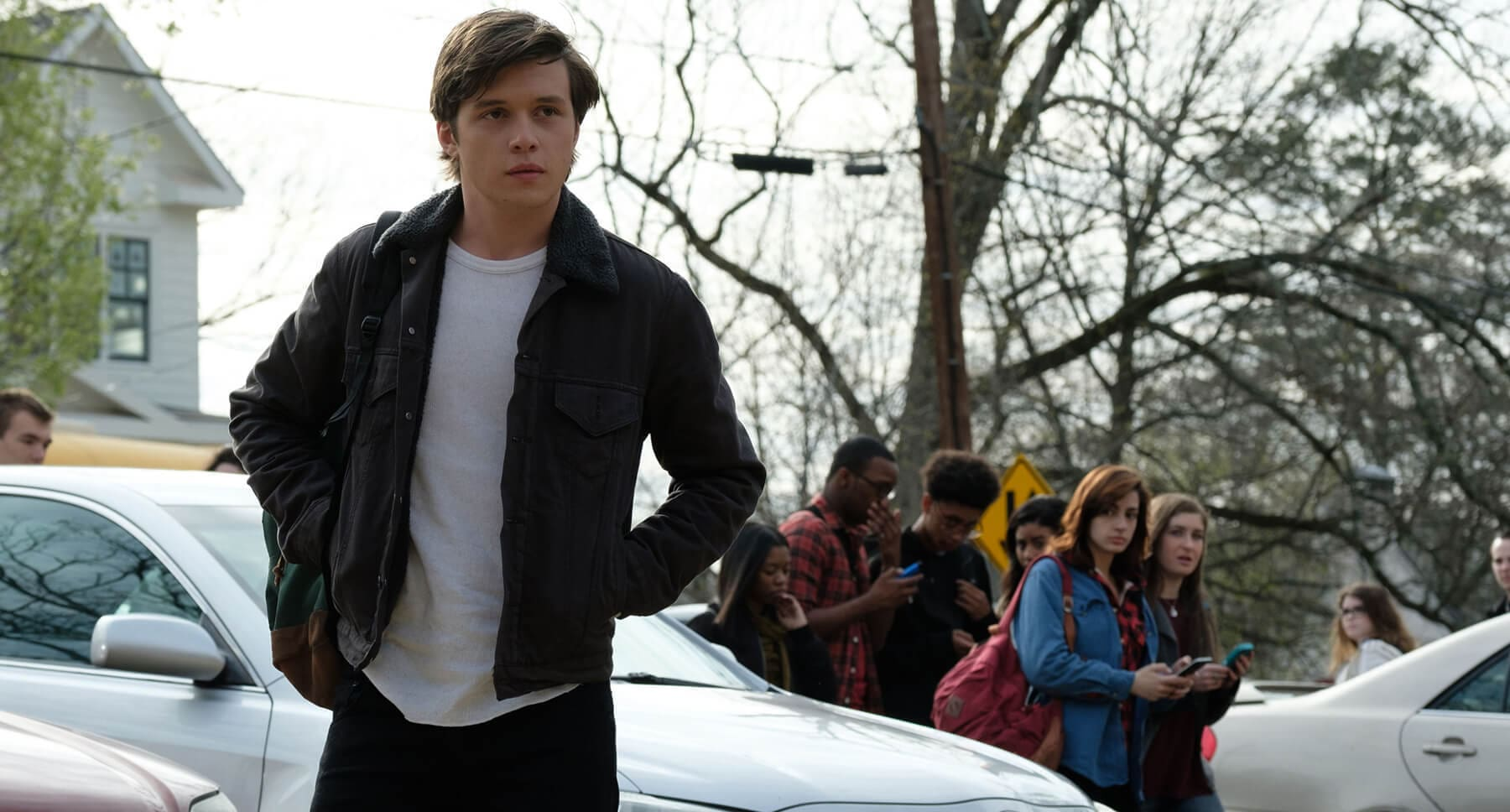 Nick Robinson (as Simon) in Love, Simon