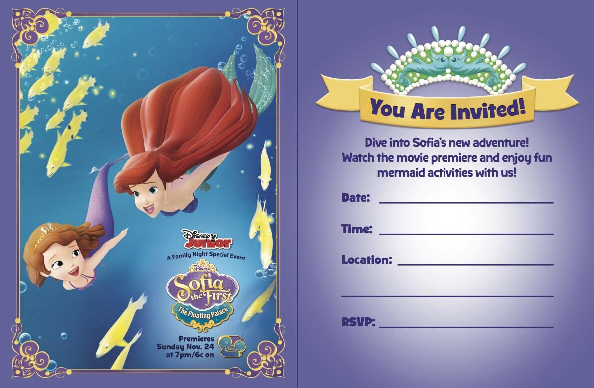 Floating Palace Party Invites | Disney Junior India