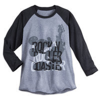 Mickey Mouse Rock 'n Roller Coaster Long Sleeve Raglan Tee for Women