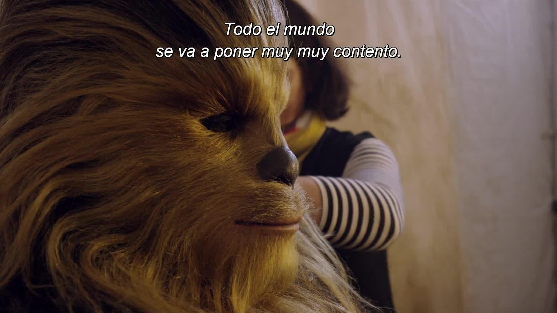 Star Wars El despertar de la fuerza - Wookie abrazos