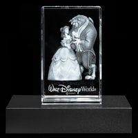 Image of Beauty and the Beast Laser Cube by Arribas - Walt Disney World # 2