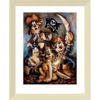 Image of Mickey Mouse and Friends ''Motley Crew'' Giclée by Darren Wilson # 5