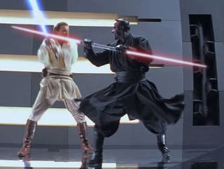 Obi-Wan Fights Darth Maul