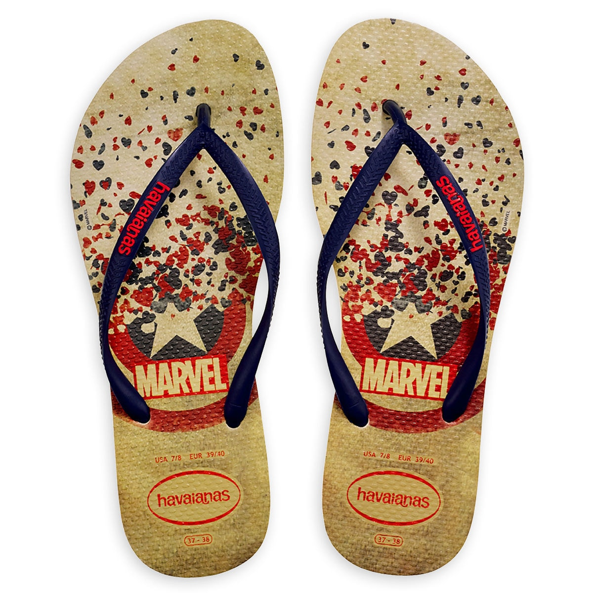 707e67605258 Captain America Flip Flops for Women by Havaianas