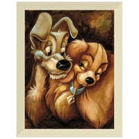 Image of ''Lady and the Tramp'' Giclée by Darren Wilson # 9