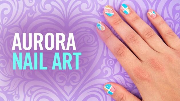 Princess Aurora Colorblock Nail Art