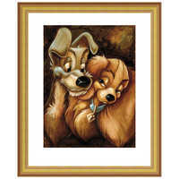 Image of ''Lady and the Tramp'' Giclée by Darren Wilson # 4