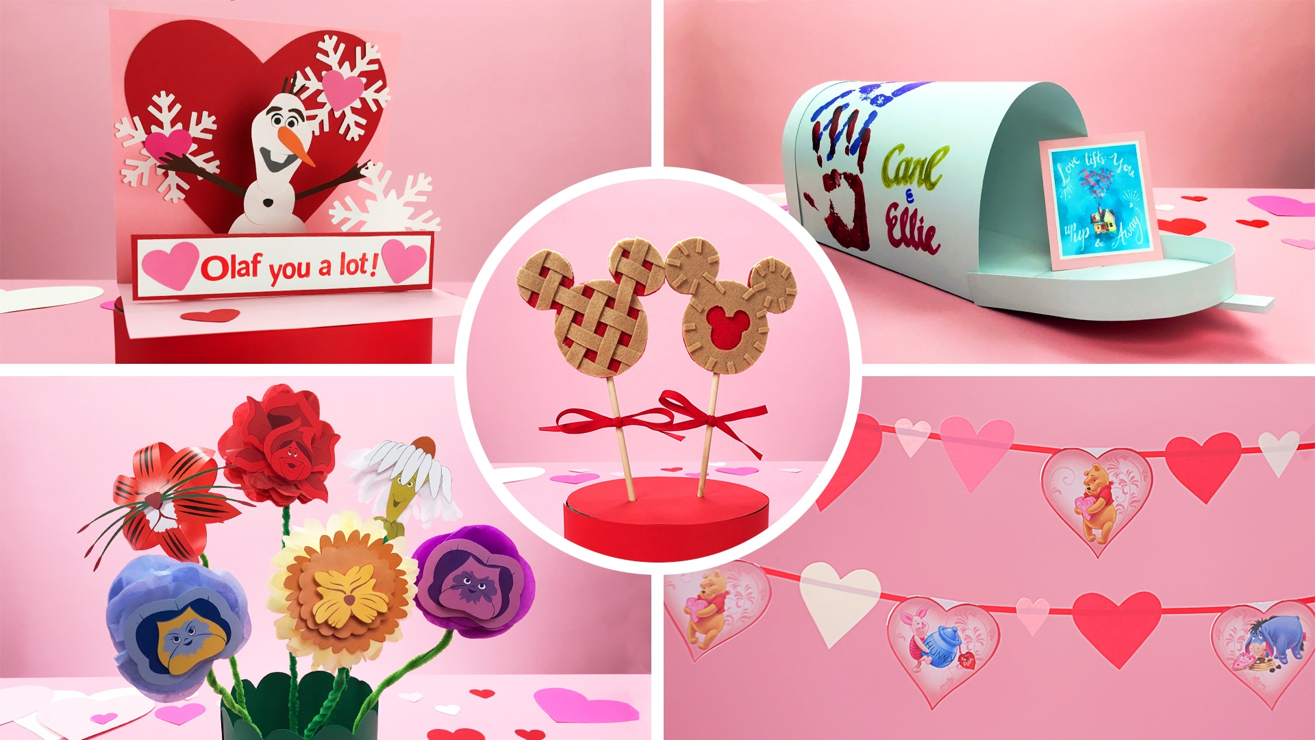 5 Easy Disney Crafts for Kids for Valentine's Day | Disney DIY by Disney Family