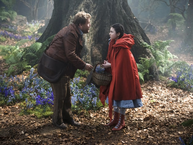 "With James Corden as the baker and Lilla Crawford as Little Red Riding Hood, ""Into the Woods"" is ..."