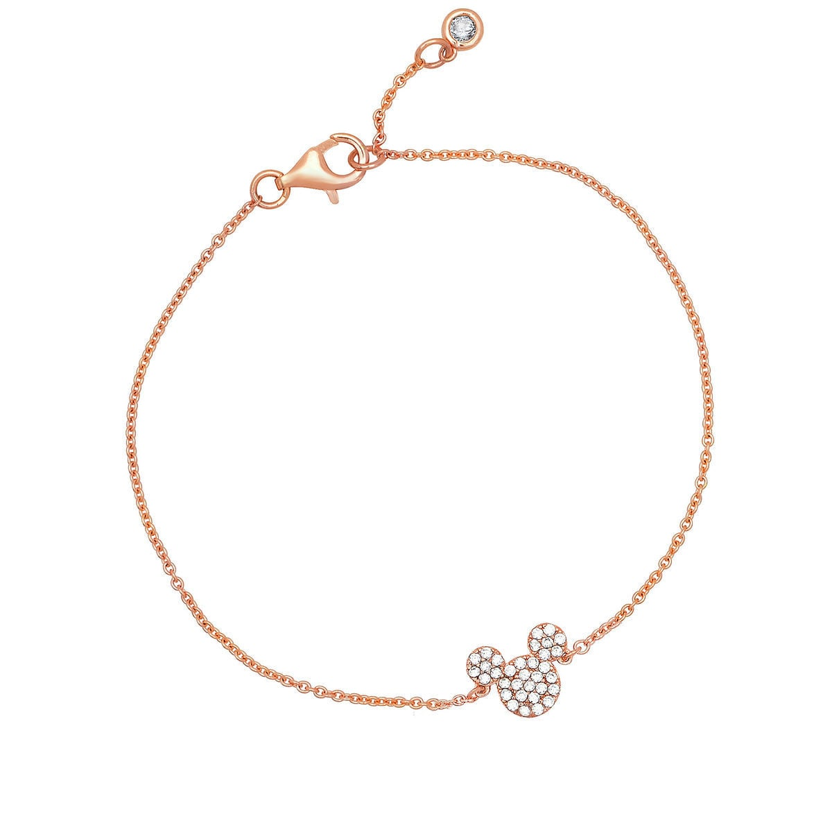 Product Image Of Mickey Mouse Icon Bracelet By Crislu Rose Gold 1