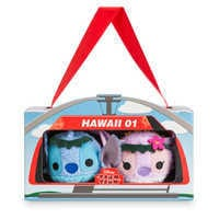 Image of Stitch and Angel ''Tsum Tsum'' Plush Hawaiian Set - Mini 3 1/2'' # 3
