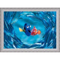 Image of Finding Nemo ''The Moonfish entertain Marlin and Dory'' Giclé # 9