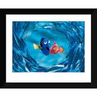 Image of Finding Nemo ''The Moonfish entertain Marlin and Dory'' Giclé # 1